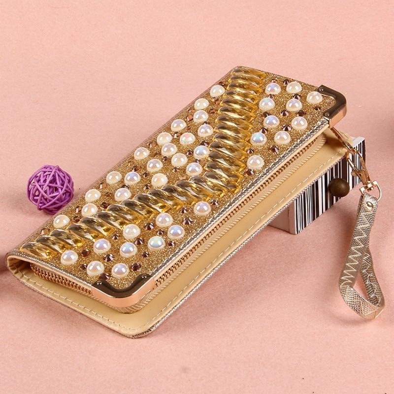 2016 Woman Evening bag lady Diamond Rhinestone Crystal Day Clutch Wallet Wedding Purse Party Banquet Black/Gold Silver luxury