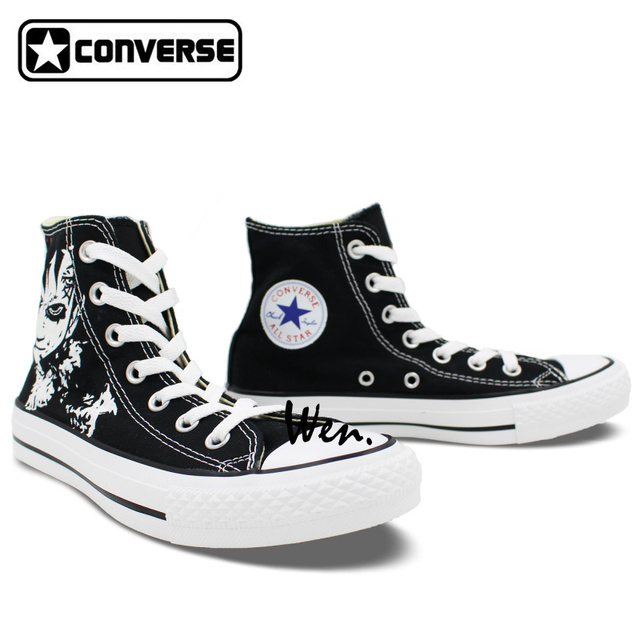Gaara Love Hand-Painted Converse Sneakers