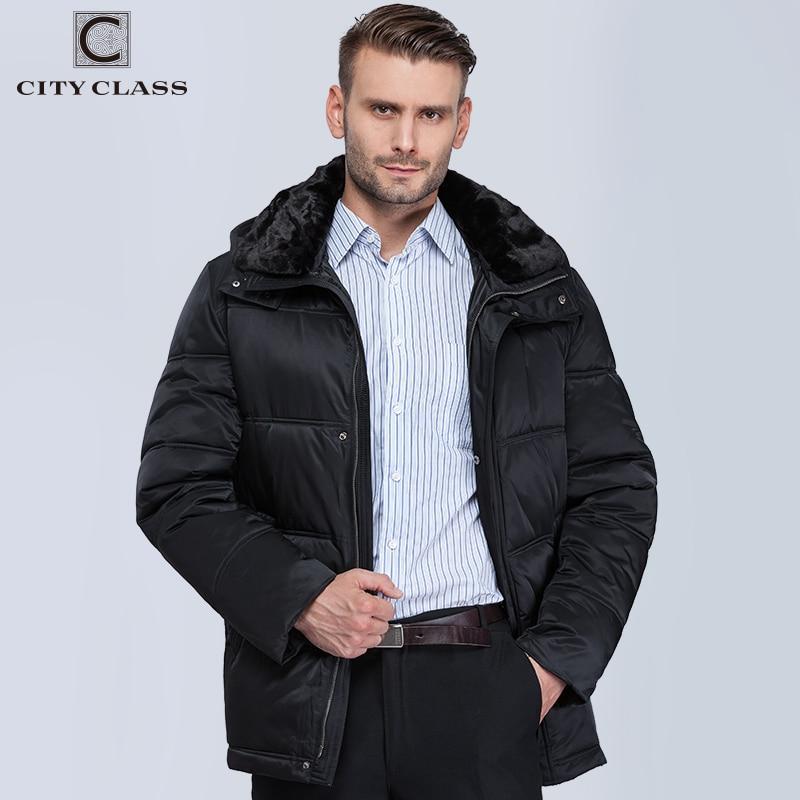 Chaqueta de invierno 2019 de clase de ciudad para hombres nuevos abrigos con capucha removibles con cuello redondo 6581-in Parkas from Ropa de hombre    3