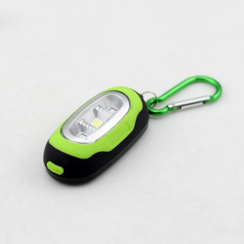 Mini Portable Lighting Work Tent Lamp With Magnet White Red Light Bulb Plastic Camping Light Button Battery With Key Chain