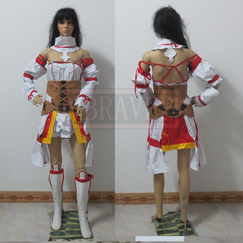 Sword Art Online Hollow Realization Asuna Cosplay Costume Battle Dress Custom Made Any Size