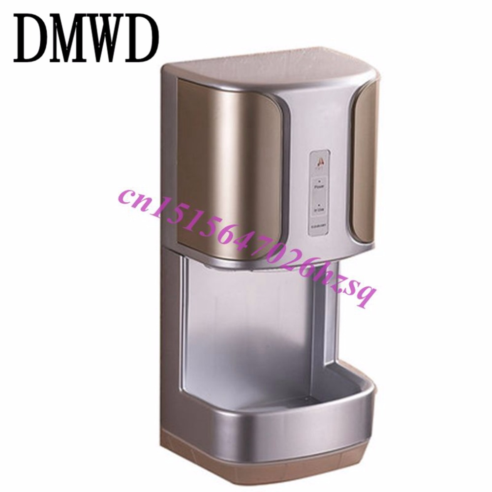 DMWD Automatic induction hotel toilet cold hot blow dry hand dryer machine high-speed wall mounted