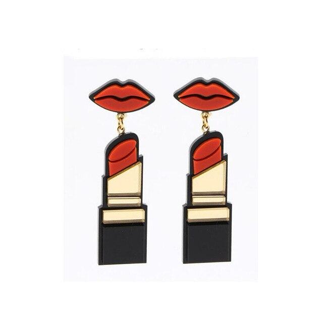 diseño innovador 8c258 3593d € 2.39  Labios Rojos largos Cuelga Los Pendientes Brincos grandes Barras De  Labios Moda Punk Grande Ethnique Aretes De Mujer Pendiente de Gota de La ...