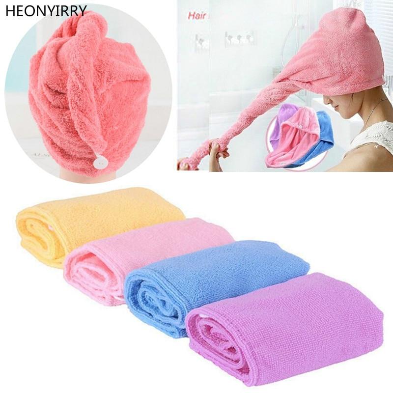 56 X 22cm Turban Hair-Drying Shower Caps Towel Women Absorbent Microfiber Bath Towel Bathrobe Hat Hair Wraps Bath Accessories