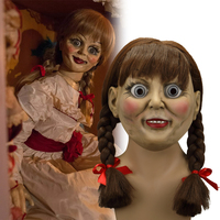 2019 The Conjuring Annabelle Mask Latex Cosplay Halloween Scary Movie Adult Mask Props