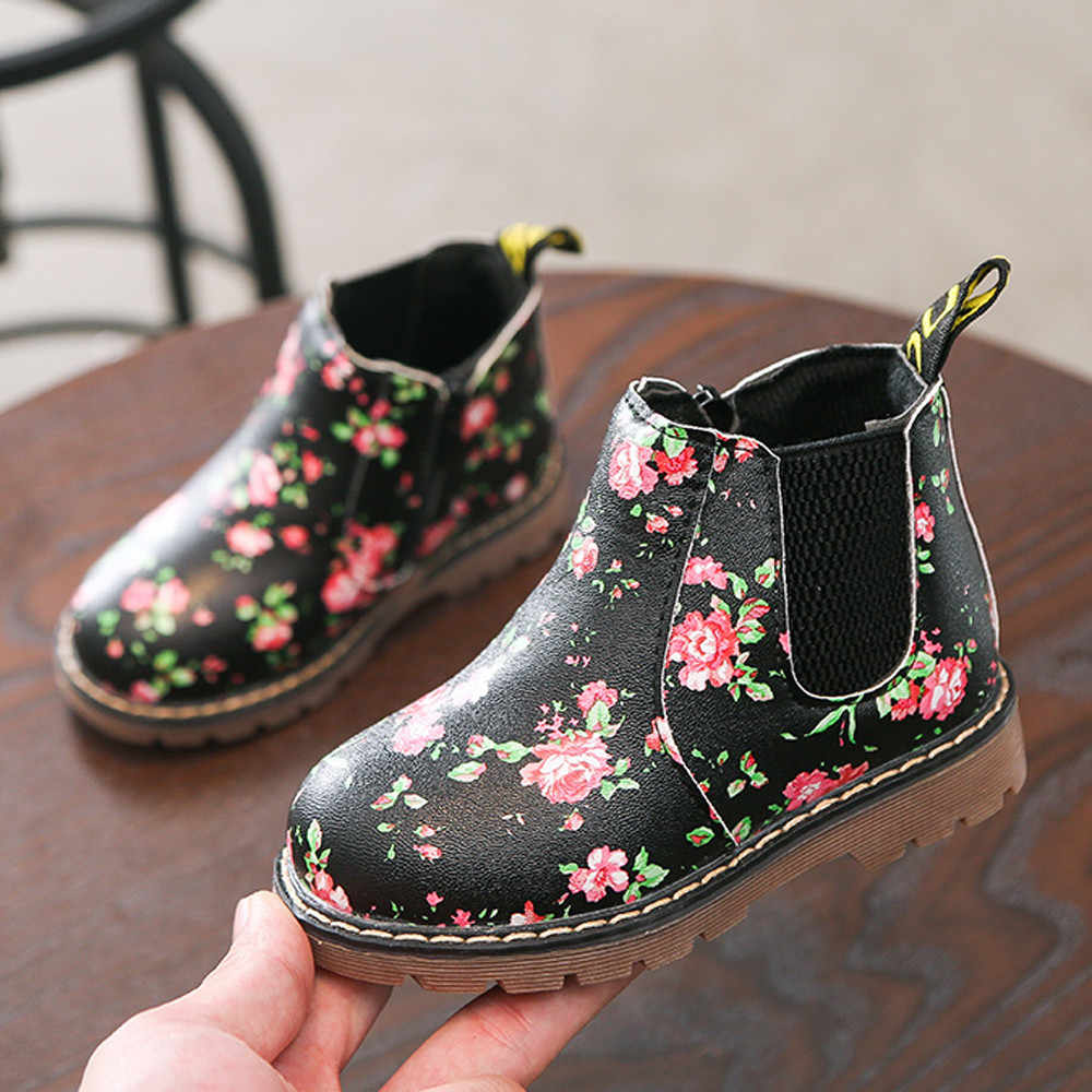Children Fashion Boys Girls Martin Sneaker Winter Thick Snow Baby Casual Shoes new spring bay shoes infants fashion shoes