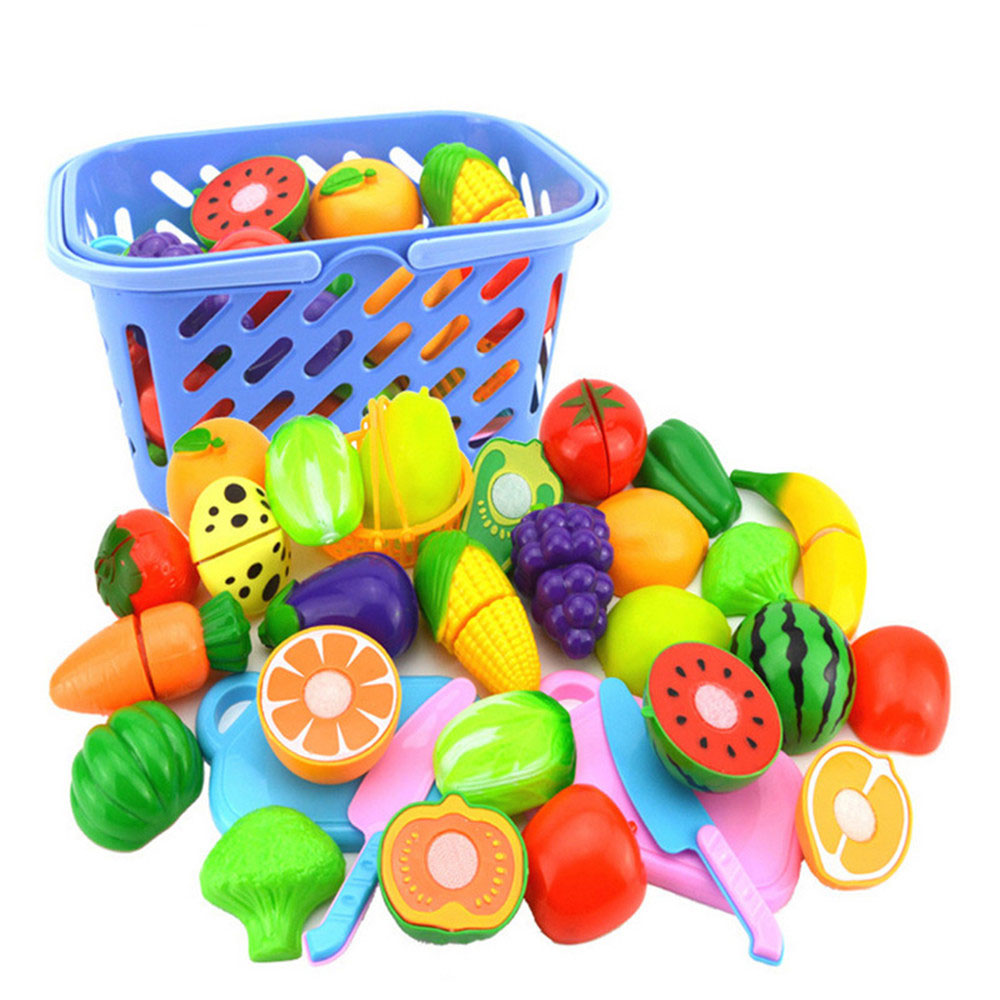 23Pcs/Set Fruit Vegetables Cutting Toy Early Intellectual Development And Parent-child Communication Interactive Toys For Baby