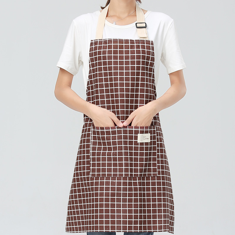 SINSNAN New Hot Fashion Lady Women Men Adjustable Cotton Linen High-grade Kitchen Apron For Cooking Baking Restaurant Pinafore 3