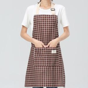 Image 4 - SINSNAN New Hot Fashion Lady Women Men Adjustable Cotton Linen High grade Kitchen Apron For Cooking Baking Restaurant Pinafore