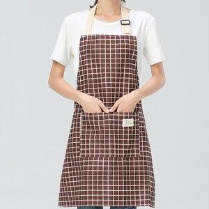 Image 4 - SINSNAN جديد حار موضة سيدة نساء رجال قابل للتعديل القطن الكتان عالية الجودة مطبخ المئزر للطبخ الخبز مطعم pinafront