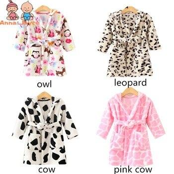 8bdddcf70 Bebé traje de franela pijamas niños ropa de dormir de dibujos animados de  bebé con capucha trajes niños niñas pijama engrosamiento inicio ropa