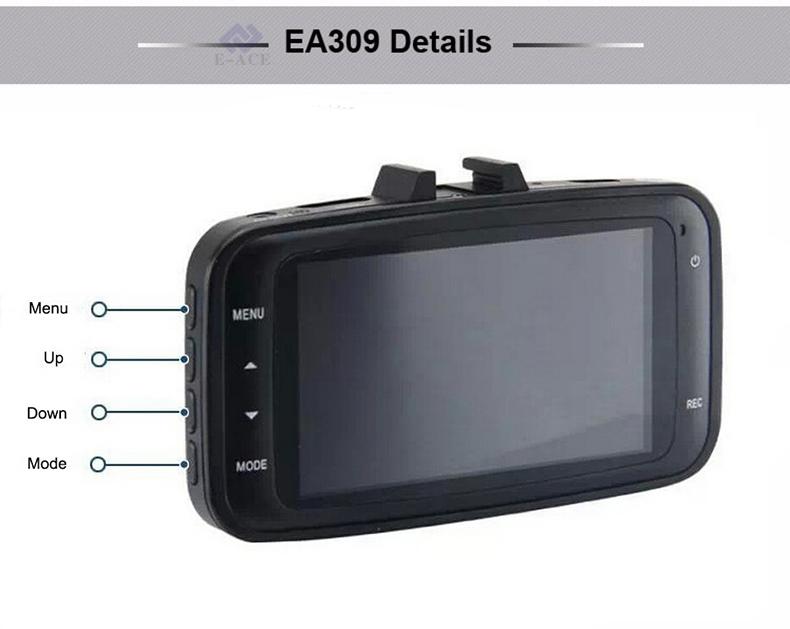 E-ACE Hidden Wifi Mini Car Dvr Full HD 1080P Video Recorder Night Vision Dvrs Auto Dash Cam Dual Camera Lens Automotive Car Cams 25