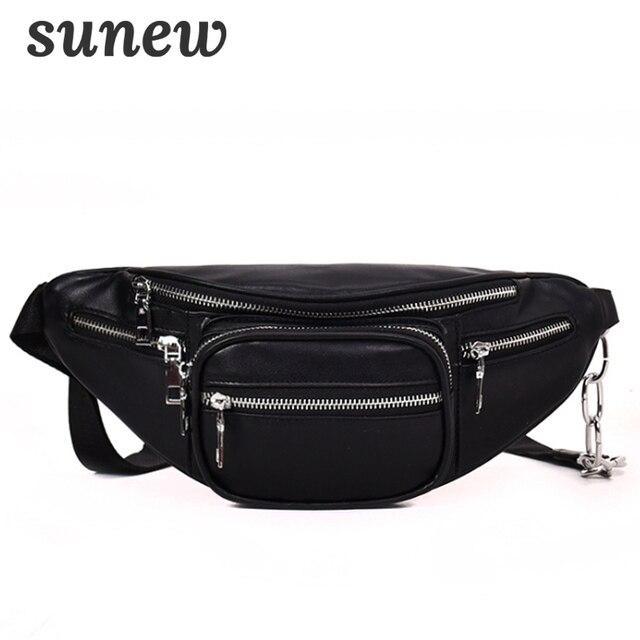 Fanny Pack Leather Belt Bag Chest Bum Waist Bag Bumbag Fannypack Borsa Marsupio Donna Waist Pack Pouch Heup Tasje Taille K044
