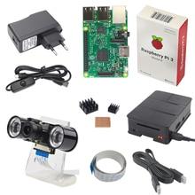 Малина Pi Камера комплект Raspberry Pi + Ночное видение Камера + держатель + Мощность Подключите + кабель USB + чехол + Кабель HDMI + теплоотвод
