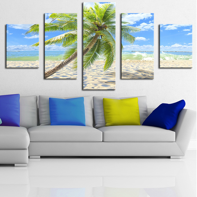 Aliexpress.com : Buy sunny tropical beach Modern Home Wall Decor ...
