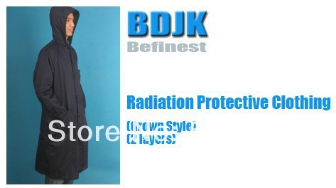 Radiation Protective Clothing with Metal Fibrosis Conductive Fabric 2 Layers Protection Suit