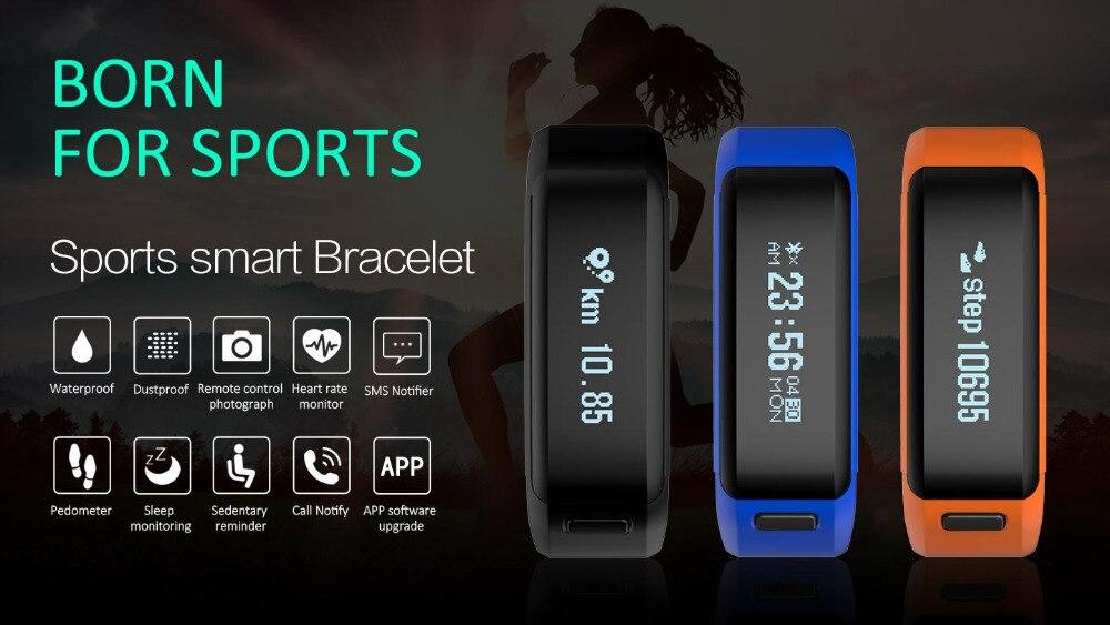 SXR1 Bracelet intelligent Bracelet de bain étanche montre Tracker de Fitness iOS Android Smarband moniteur de fréquence cardiaque PK xiaomi mi bande 2 - 6