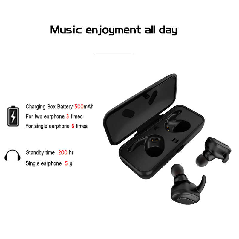 84f3ad4383f ... TWS true Wireless Bluetooth Earphone bluetooth handsfree earbuds Stereo  Mini sports headset With microphone Charge box ...