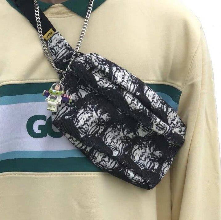 Brand New Hot Face Tyler The Creator Golf Golf Le Fleur Shoulder Bag Side Bag Waist Hip Fanny Packs Pack 23*18 Cm #089