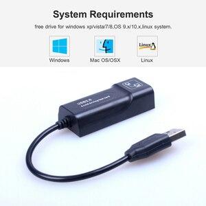 Image 3 - Adaptador Ethernet USB, tarjeta de red, Lan, Mini adaptador de red USB a RJ45, Lan de 10/100 Mbps, tarjeta RJ45 para Mac, PC y ordenador portátil