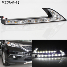LED Daytime Running Light For Honda CRV CR-V 2015 2016 DRL Car-styling Daylight Front Fog Lamp With Yellow Turn Signal Light sunkia car led drl daytime running light with fog lamp hole for mitsubishi asx 2013 2015 white light amber turn signal