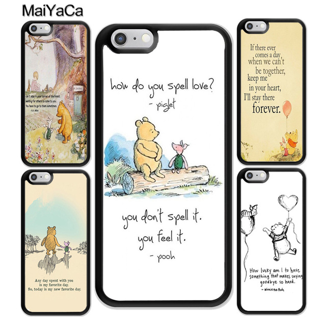 Maiyaca Winnie The Poohs Quotes Soft Tpu Protective Shell Skin Phone