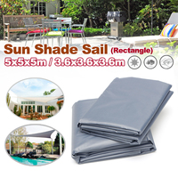Sun Shade Sail Garden Patio Sun resistant Triangle Awning Canopy Sunscreen Cover