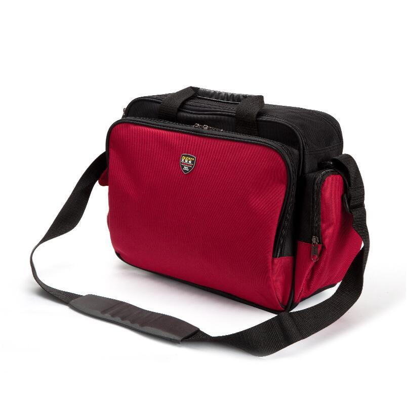 13 Inch Multi-functional 600D Oxford Canvas Tool Bag Computer Repair Shoulder Bag Red