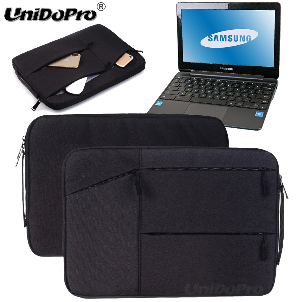 Unidopro Multifunctional Sleeve Briefcase for Samsung Chromebook Plus Convertible Touch Laptop XE513C24-K01US Carrying Bag Cover