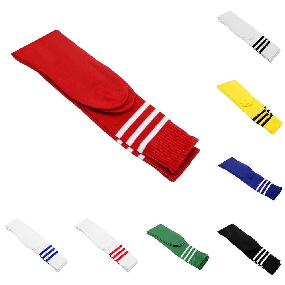 1 Pair Men Women Over Knee Socks Striped Stretch Football Soccer Sports Longue Chaussette Long Socks Drop Shipping