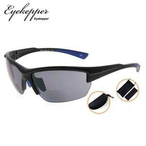 Image 2 - SG901 Eyekepper TR90 Sports Half Rimless Bifocal Sunglasses Baseball Running Fishing Driving Golf Softball Hiking Readers