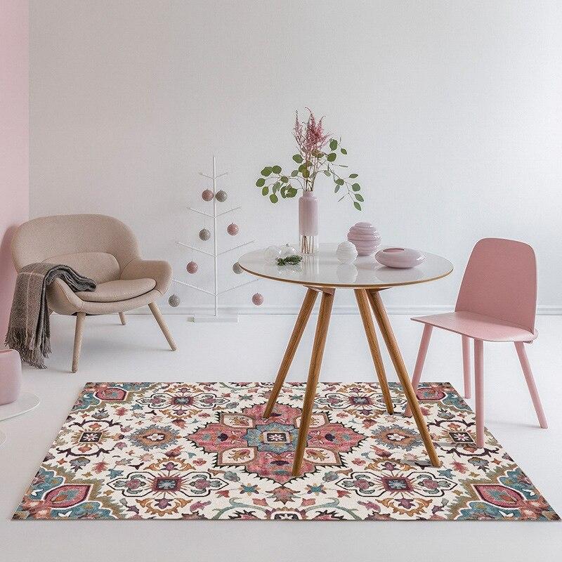 בציר קלאסי גיאומטרי שטיחים לסלון בית שינה פרסית שטיח שולחן קפה שטיחים באזור Tapete עדין רצפת מחצלות
