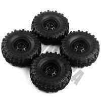 "INJORA Rubber 1.9"" Wheel Tires&Plastic 1.9inch Wheel Rims 4Pcs/Set for 1/10 RC Crawler Axial SCX10 90046 Tamiya CC01 D90 D110 6"