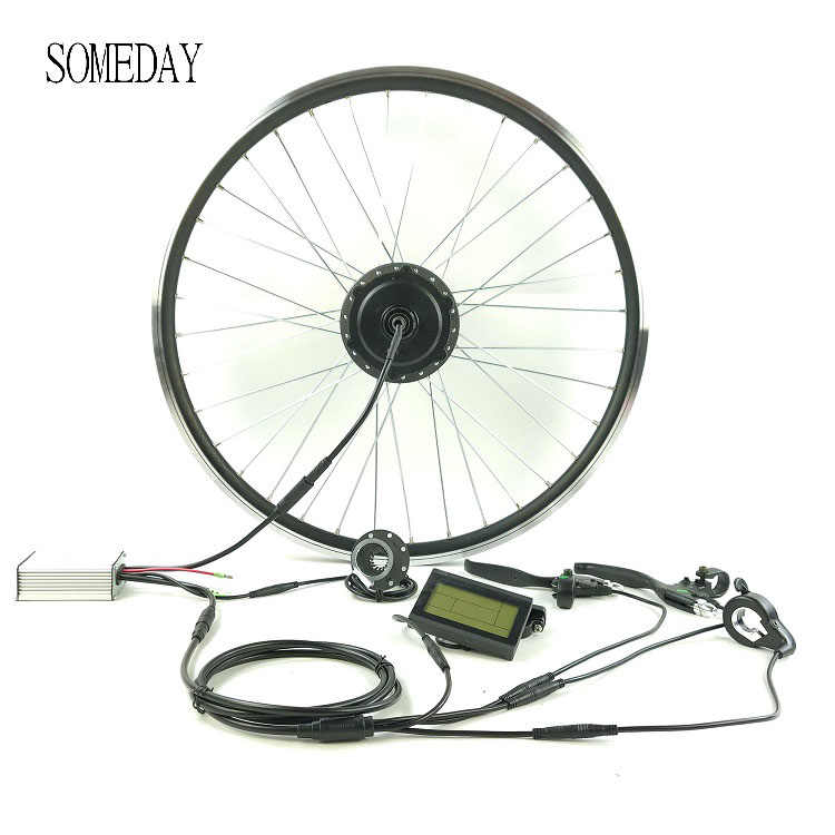 SOMEDAY electric bicycle conversion kit  with LCD3 display Whole Waterproof Cable Easy install 36V 250W rear cassette wheel hub