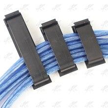 20 шт./лот, FC-30, 3 м, нейлоновый монтажный плоский полюс, зажим для кабеля, держатель провода для фиксации автомобильного зарядного устройства, кабельный зажим