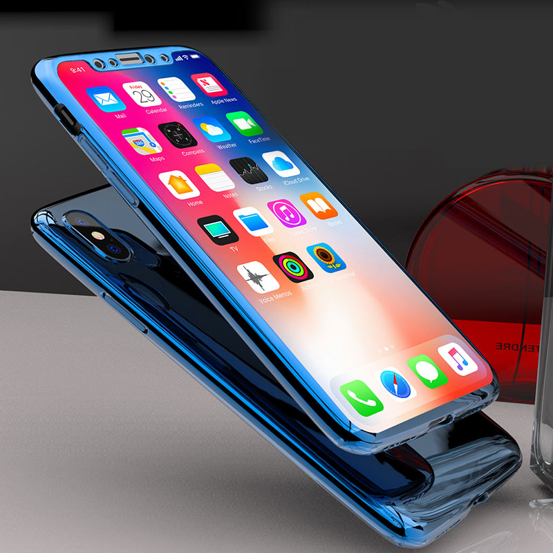 360 Degree Full Body Case Soft HD Screen Protector Film Ultralight Slim Hard Mirror For iPhone