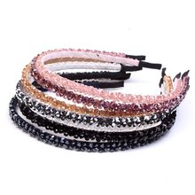 Girls Shiny Luxury Rhinestone Hair Band High Quality Diamond Hair Hoop Accessories for Women Crystal Headbands Ornaments(China)