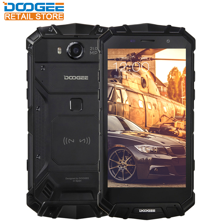 DOOGEE S60 Waterproof IP68 Smartphone 5.2 FHD Android 7.0 Helio P25 Octa Core 6GB 64GB 21MP Camera 5580mAh 12V2A Quick Charge