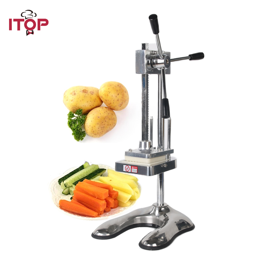 купить ITOP Commercial French Fries Cutter Potato Chip Slicers Vegetable Cutting Machine Potato Slicer With 3 Blades Food Processors по цене 8593.48 рублей