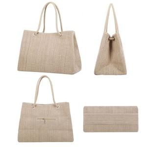 Image 3 - Fashion Women Linen Handbag Large Shopping Tote Holiday Big Basket Bags Summer Beach Bag Woven Beach Shoulder Bag JXY550