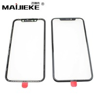MAIJIEKE New 2 in 1 LCD Screen Front Outer Glass Lens with Middle Frame for iPhone XR 6.1 Glass+Mid Frame Bezel Replacement