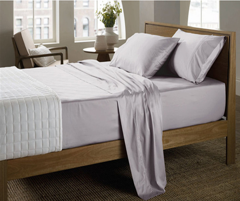 800 TC 100 Egyptian Cotton King Queen size White silvery gray colors flat sheet duvet cover