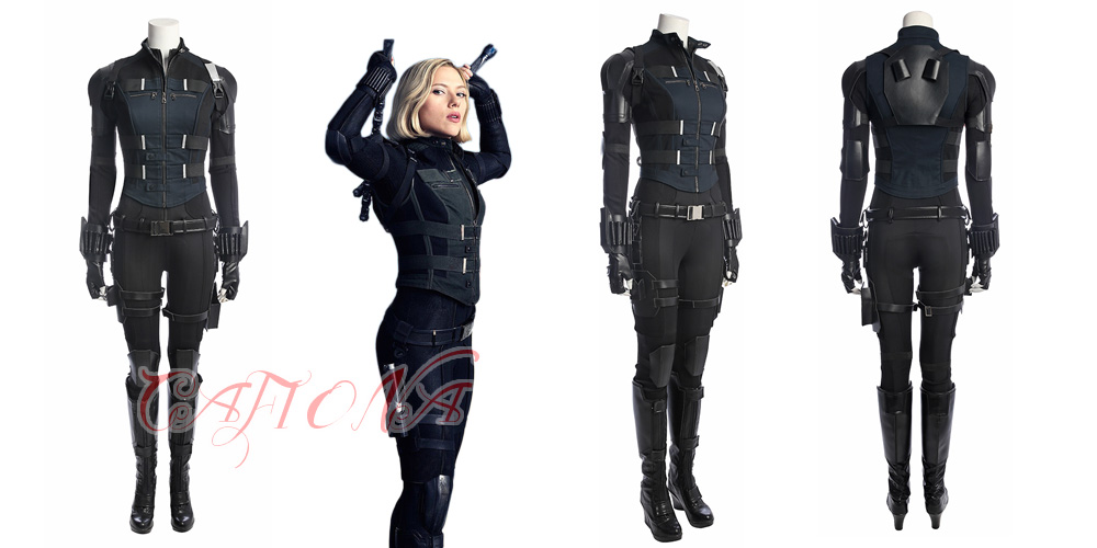 Us 44 88 34 Off Cafiona Sexy Jumpsuits Avengers 3 Infinity War Black Widow Natasha Romanoff Cosplay Costume Full Set In Movie Tv Costumes From