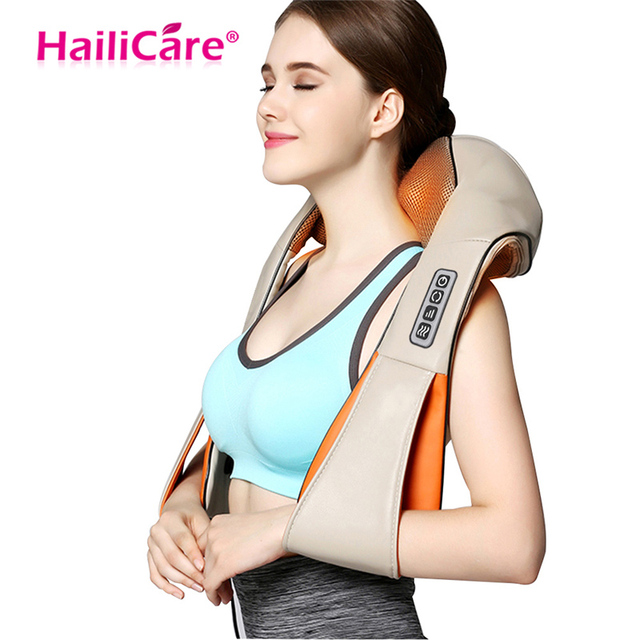 Body Massage Electric Home Car Charger Use Knead Knock 2 Items for Choose Back Neck Shoulder Beat Cellulite Shiatsu Acupressure
