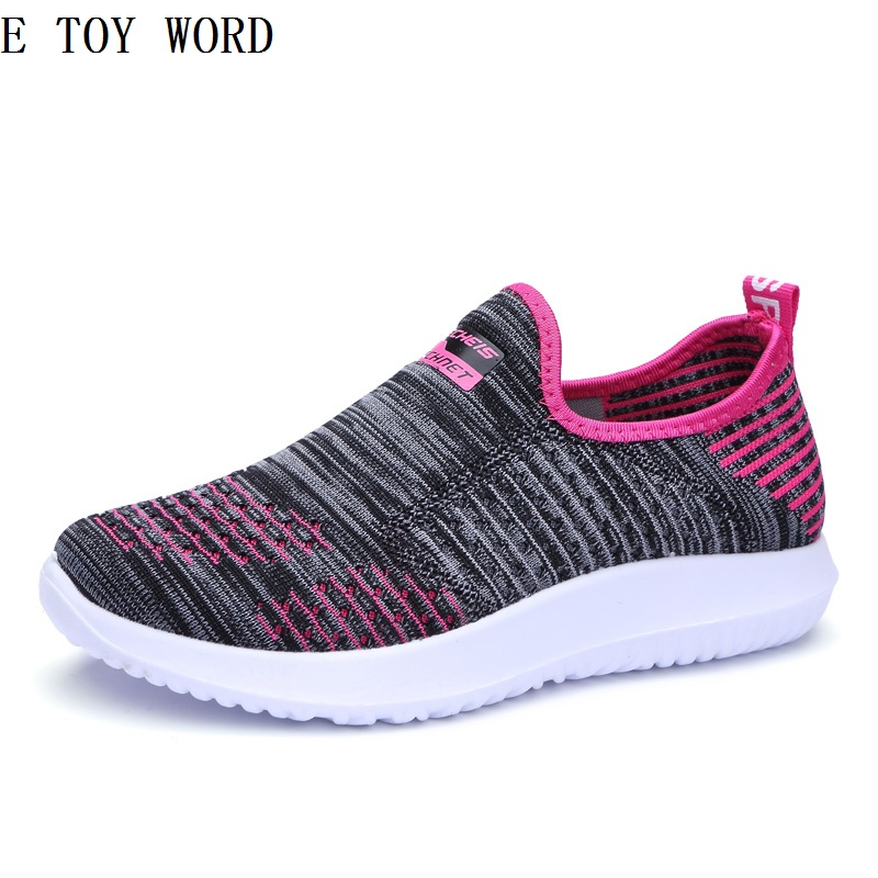 The new old Beijing cloth shoes for womens shoes breathable antiskid joker elderly leisure mother soft bottom shoes mesh for wo