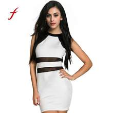 d0e3c37829ac5 (Ship from US) Feitong Summer women dress elegent lady dresses Bandage  Dresses NightClub Sexy Foreign Trade Clothing Club