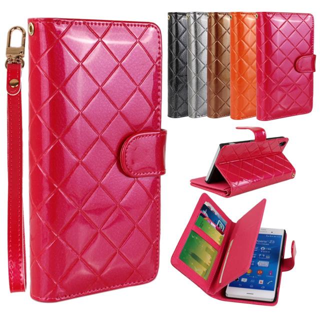 Pearlite luxo Multi Função Carteira de Couro Do Caso Da Aleta Para Sony Xperia Z3 D6653 Com Slots de Cartão Photo Frame Capa Strap caso