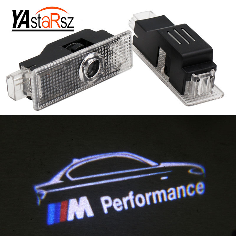 New M Performance logo LED Car Door Courtesy Laser Projector Logo Ghost Shadow Light for BMW M3 M5 M6 M Door logo Warning Light for most cars 2pcs led car door light courtesy logo laser projector punching ghost shadow lamp lights for cadillac logo
