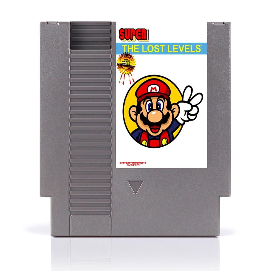 Super Bros -¡Los niveles perdidos 72 pines 8bit juego tarjeta Drop shipping!
