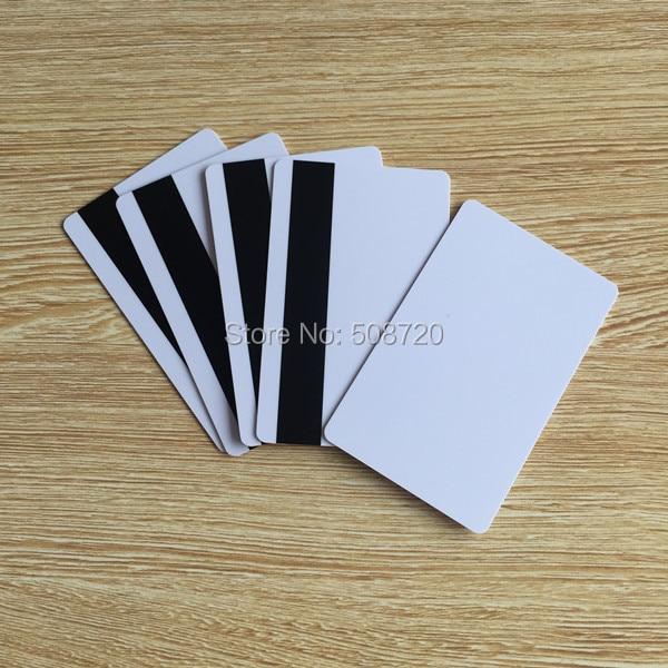 10pcs PVC Blank White Plastic Cards 30Mil LoCo Magnetic Card Mag Stripe Printable For Inkjet Printer CR80